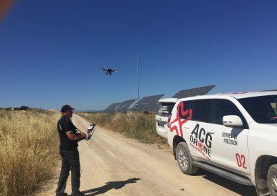 Inspección de placas solares con drones