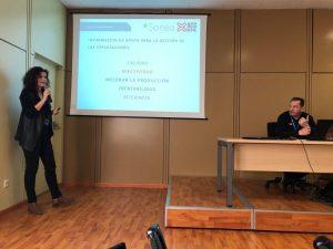 ACG Drone_Sonea_Marta Mercadal durante la presentación en Tecnovid2019_Viñedo y Olivar