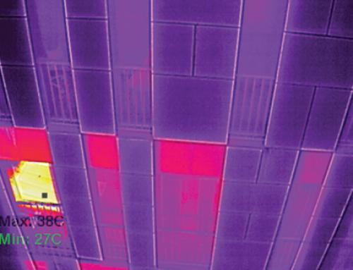 Inspección de fachadas y cubiertas de edificios con drones