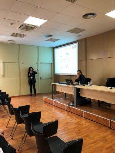 ACG Drone_Sonea_Marta Mercadal explicando las ventajas de la teledetección con drones_Tecnovid2019_Viñedo y Olivar