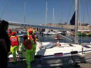 Simulacro - Al rescate de los heridos de uno de los barcos