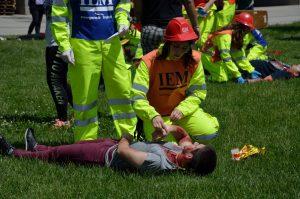 Simulacro emergencia Port Fórum Barcelona atención heridos