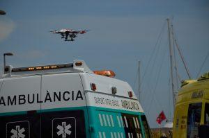 Simulacro emergencia Port Fórum Barcelona intervención RPA ACG Drone