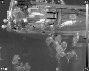 Simulacro - Imagen térmica para localizar heridos