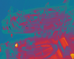 Simulacro - Imagen térmica tomada durante la localización de heridos