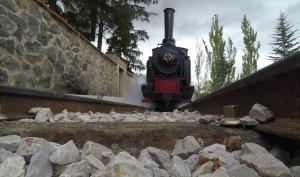 Locomotora vía tren minero de Utrillas