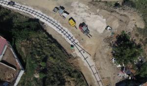 Vista aérea Rehabilitación Vía Tren Minero Utrillas