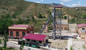 Pozo de Santa Bárbara - Vía tren minero de Utrillas