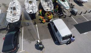 Simulacro - Zona del atentado a vista de dron