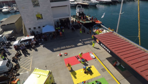 Simulacro - Zona del choque de barcos a vista de dron